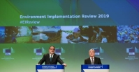 Statement of Karmenu Vella, Member of the EC, on the environmental implementation report and Brexit Preparedness in the area of Environment and Fisheries.European Union, 2019 Photographer: Jennifer Jacquemart Source: EC - Audiovisual Service.